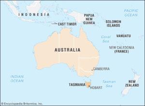 tasmania location map
